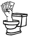 flush toilet logo 100